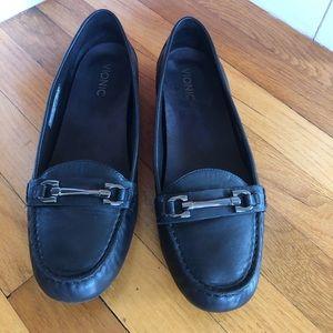 Vionic Kenya Black Leather Loafers .. Size 11